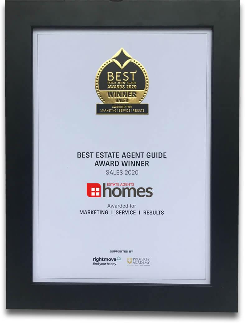 Best Estate Agent Guide Awards Winner 2020