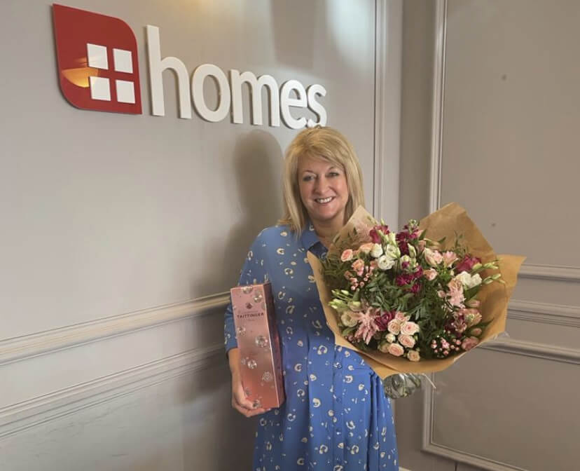 Sally Sanders celebrating 10 years with Homes